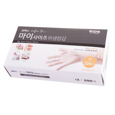 코멕스 내손에착 일회용 비닐 위생장갑(대) 200매