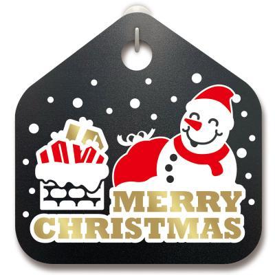 크리스마스알림판_산타 눈사람과 크리스마스