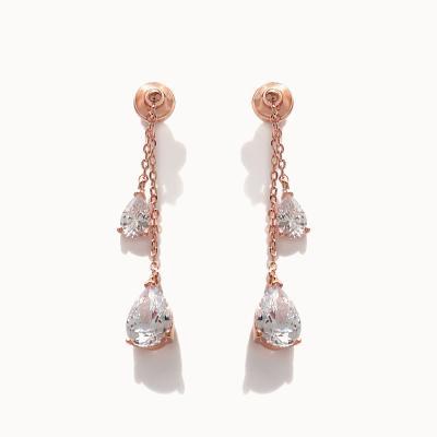 제이로렌 02M02565 크리스탈 로즈골드 투웨이 귀걸이
