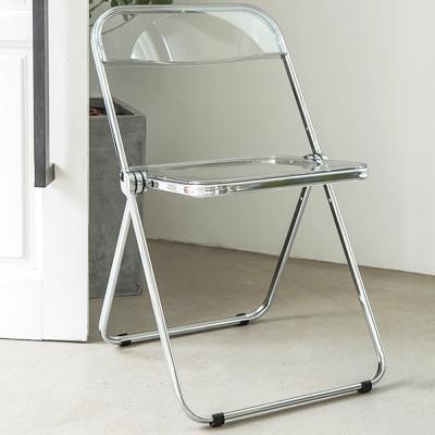 인테리어 카페 클리어 접이식 아크릴 의자
