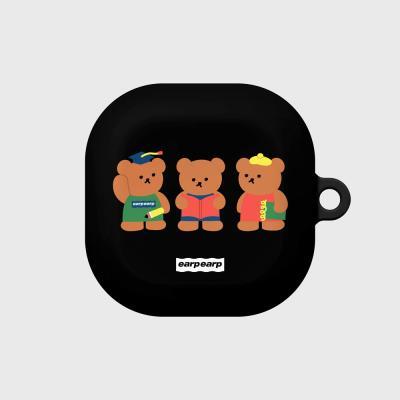 Smart bear friends-black(buds live hard)