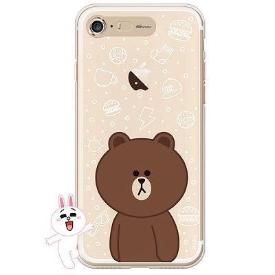 [SG DESIGN] iPHONE7 8라인프렌즈 브라운 LIGHT UP C