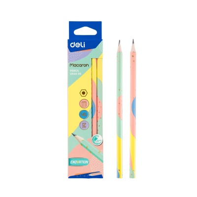 DELI 델리 마카롱 학생용 연필 HB 12자루 1타스
