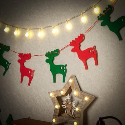 크리스마스 패브릭 가랜드(사슴)