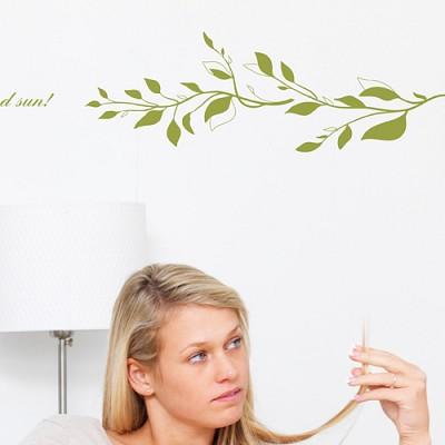 [디자인베이]  아침일기 (반제품A타입) 그래픽스티커 식물 포인트 시트지