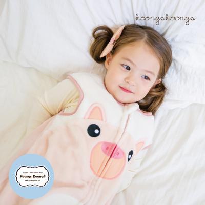 [극세사]ZOO_피그 극세사수면조끼 유아수면조끼 아동수면조끼