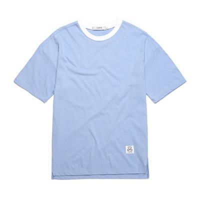 BASIC OVER FIT T-SHIRTS (SKY BLUE)  무지티