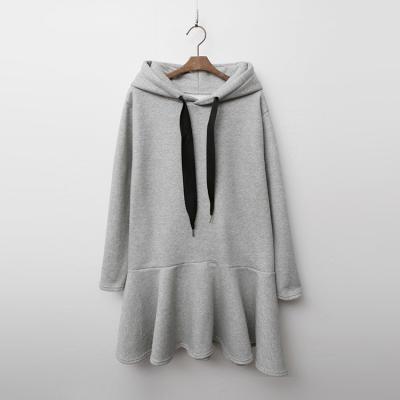 Gimo Hood Flare Dress - 기모안감