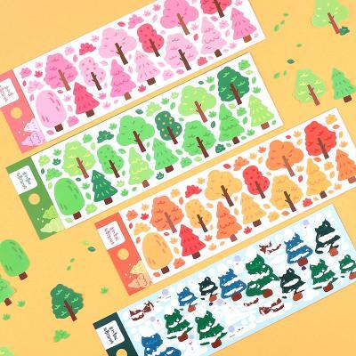 워너디숲의 나무 스티커