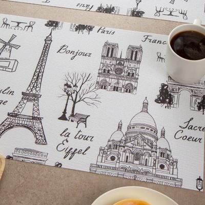 일러스트 식탁 매트 에펠탑 테이블보 인테리어 소품