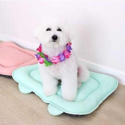 강아지 애완견 매쉬 놀이 방석 쿠션 에어매트 민트S