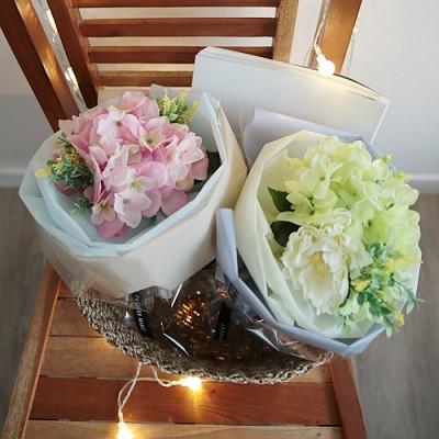 수국작약 꽃다발