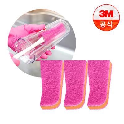 [3M]보틀 수세미용 리필(1입)_플라스틱용 3개