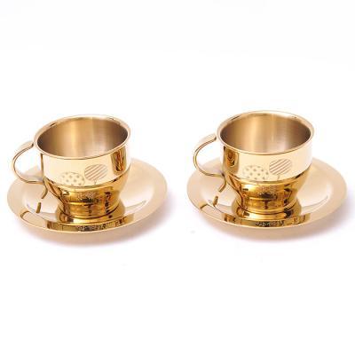 티타늄 커피잔 세트 컵 2개 컵받침 2개