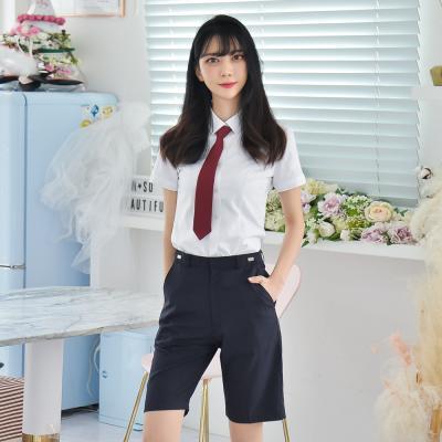 [빅사이즈] 허리조절 네이비 교복 반바지(여자) ~6XL