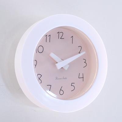 파스텔 이중흡착 욕실시계 (핑크) 벽 시계 추카