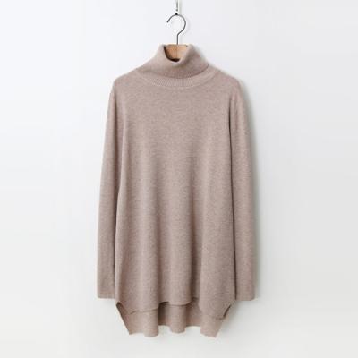 Cashmere N Wool Turtleneck Unbal Knit