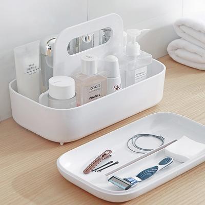 욕실 주방용품 화장품정리 핸들 커버보관함 대형 MO20