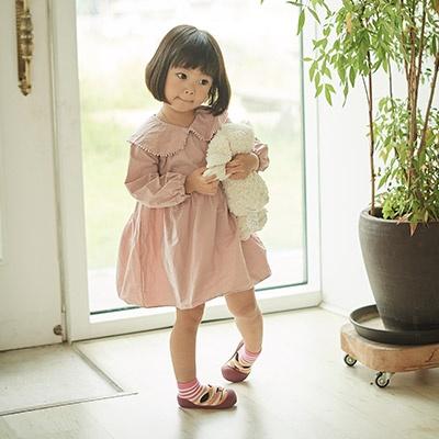 [빅토우즈] 슬리핑캣 핑크 보행기신발