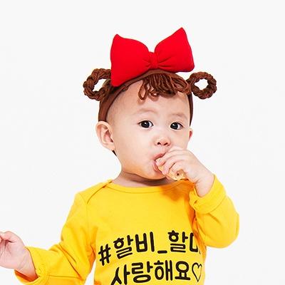 [유호랑] 춘리밴드 - 아기가발밴드