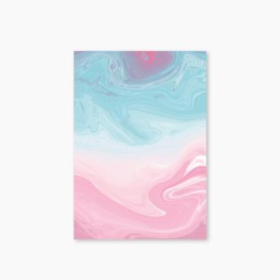 [Marbling Series] Type B - Skyblue Pink 유선노트
