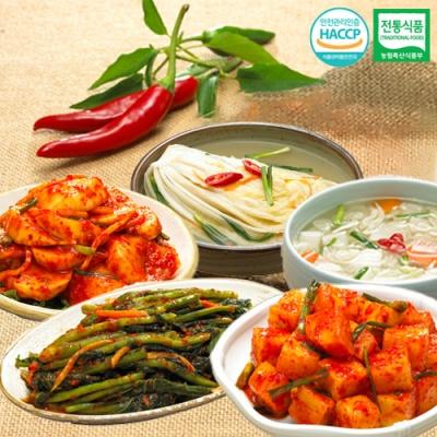 깍두기+나박물김치+석박지김치+갓김치+백김치x각1kg