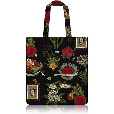 nother Viva Frida Flat Tote Bag / 나더 프리다 칼로 플랫 토트백 (Frida Kahlo/Black)