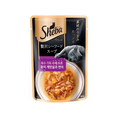 쉬바 수제 수프 참치 게맛살과 연어 40g