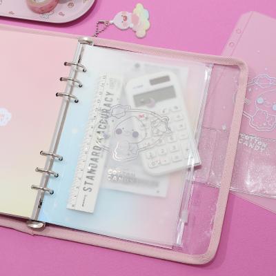 카카오프렌즈 코튼캔디 A5 PVC 지퍼 포켓
