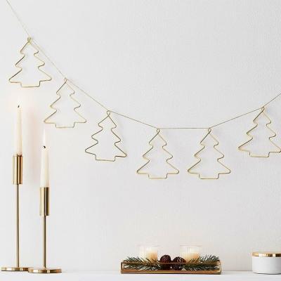 [빛나파티]골드 트리모양 메탈릭 가랜드 Christmas