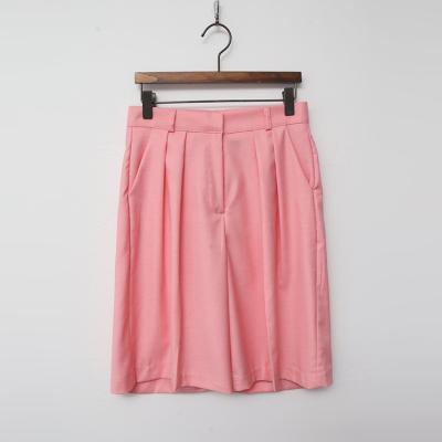 Pintuck Bermuda Pants