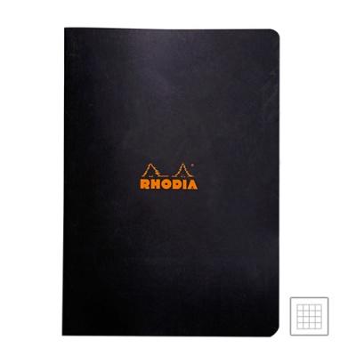 [로디아]클래식 스테플 노트 블랙 격자 A4