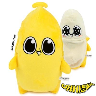 바나나툰 와나나 기본 봉제인형(껍질형)-30cm