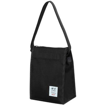 생활용품 잡화 크로스형 보온 보냉 가방 블랙