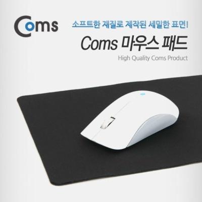 Coms 마우스 패드 24x20cm 블랙 사무용 게임용