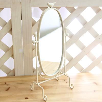 도브 크림베이지 라운드 거울