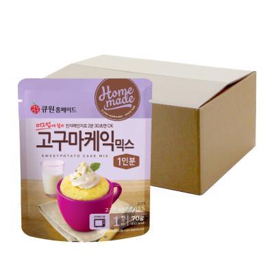 (박스특가)큐원 고구마케익믹스70g 20개 전자레인지용