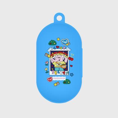 kkikki love jelly-sky blue(buds jelly case)