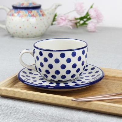 폴란드그릇 아티스티나 티잔&소서세트 200ml 패턴61