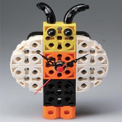 꿀벌 블럭시계 (170208) 블럭레고형시계,조립시계