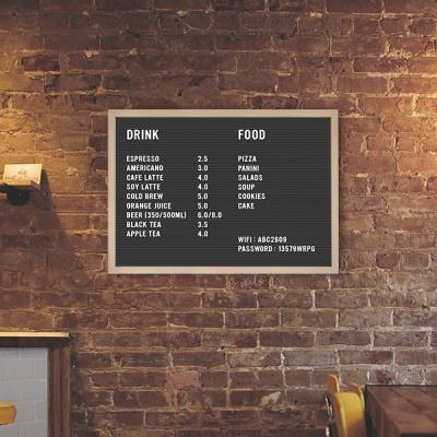 A2 블랙 레터보드 DIY 세트 - 내추럴, 브라운Frame