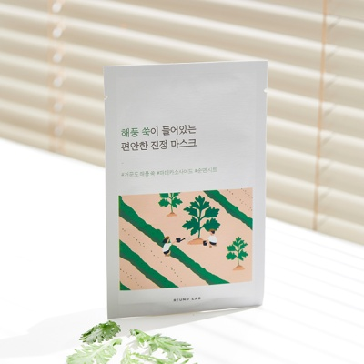 라운드랩 해풍쑥 진정 마스크 1매