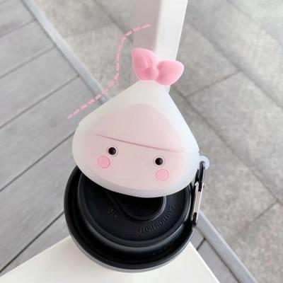 에어팟 1/2/3/프로 귀여운 만두 캐릭터 실리콘 케이스