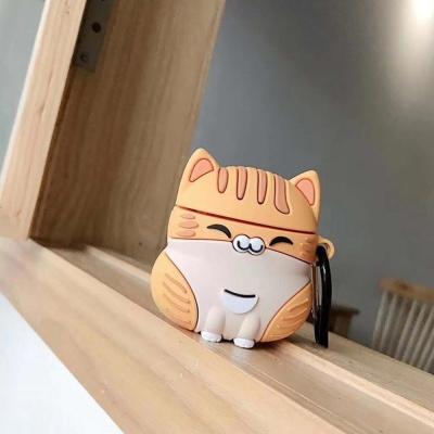 에어팟 케이스 1/2/PRO 고양이 실리콘 카라비너 세트