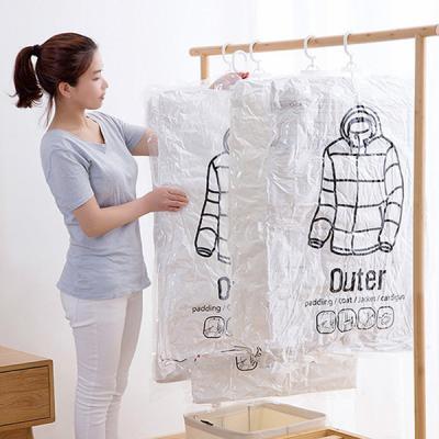 위생 방습 옷걸이형 진공 압축팩 Outer ZIP 입체형
