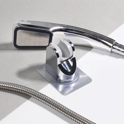 욕실 3단 각도조절 무타공 강력접착 샤워기 거치대