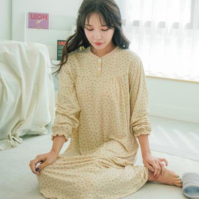 메리핀 피치기모 플라워 원피스 잠옷 3종
