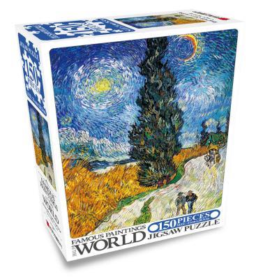 명화 직소퍼즐 150pcs 사이프러스나무와 별이 있는 길