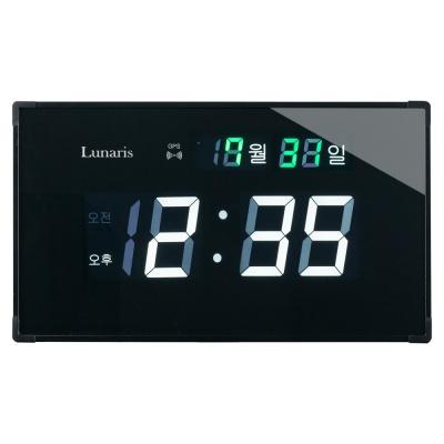 국산 루나리스 GPS 수신 LED 디지털 전자벽시계(소)