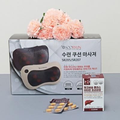 바디플라워 쿠션안마기 SR205 +코오롱제약 밀크씨슬
